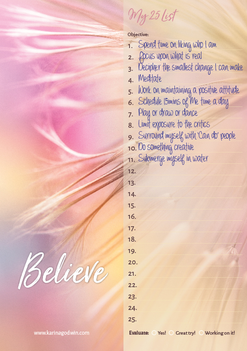 Believe 25-List-Sample